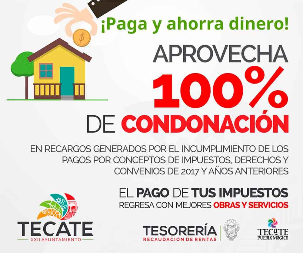 Fomenta Ayuntamiento el pago de impuestos con descuentos del 100 por ciento en recargos