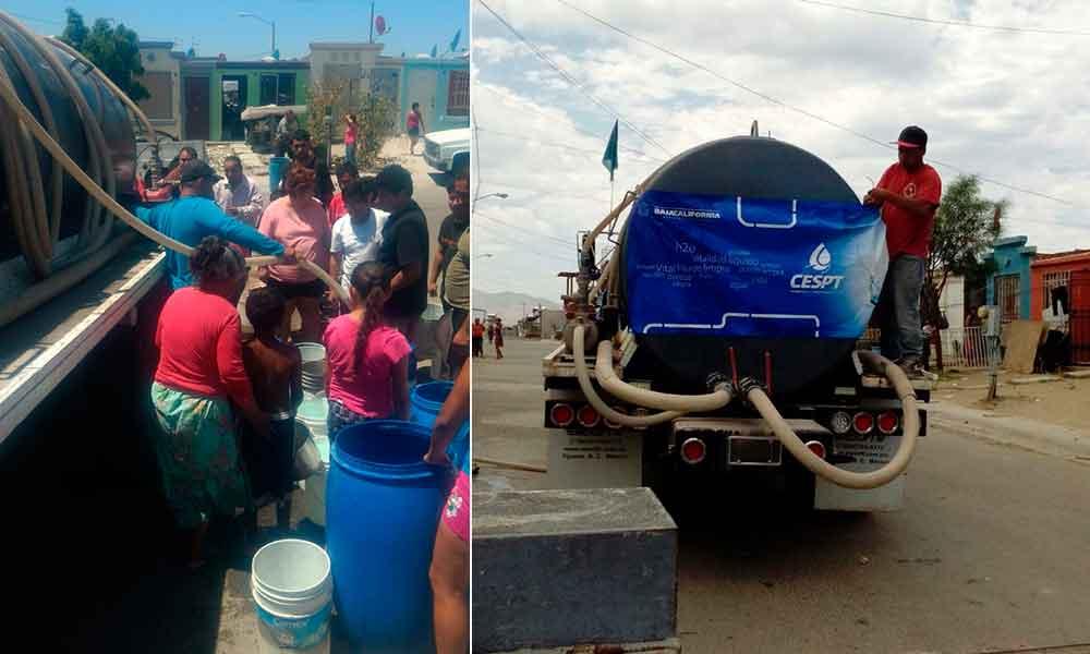 Apoyarán con pipas de agua a residentes de Villa del Campo