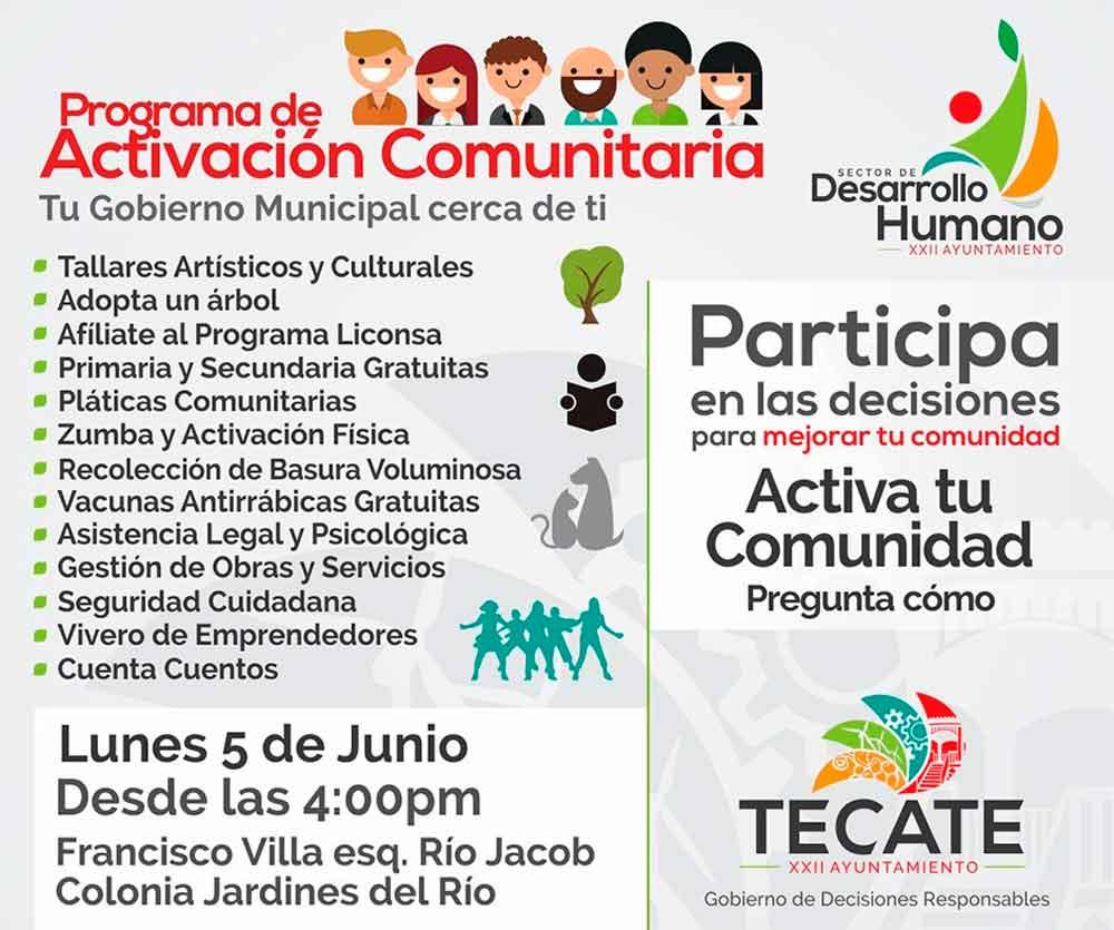Ayuntamiento llevará el Programa de Activación Comunitaria a Jardines del Río