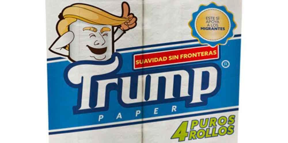 Mexicano lanza papel de baño marca Trump