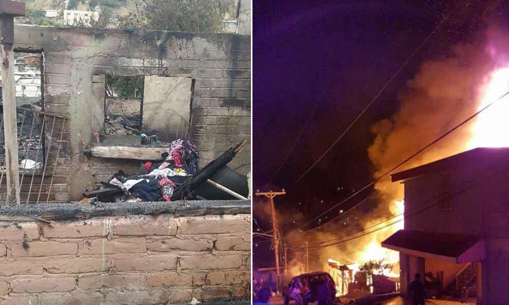 Padre e hijas mueren en incendio en Tijuana