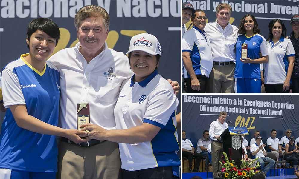Entrega Gobernador Kiko Vega reconocimientos a la excelencia deportiva 2017 en Baja California