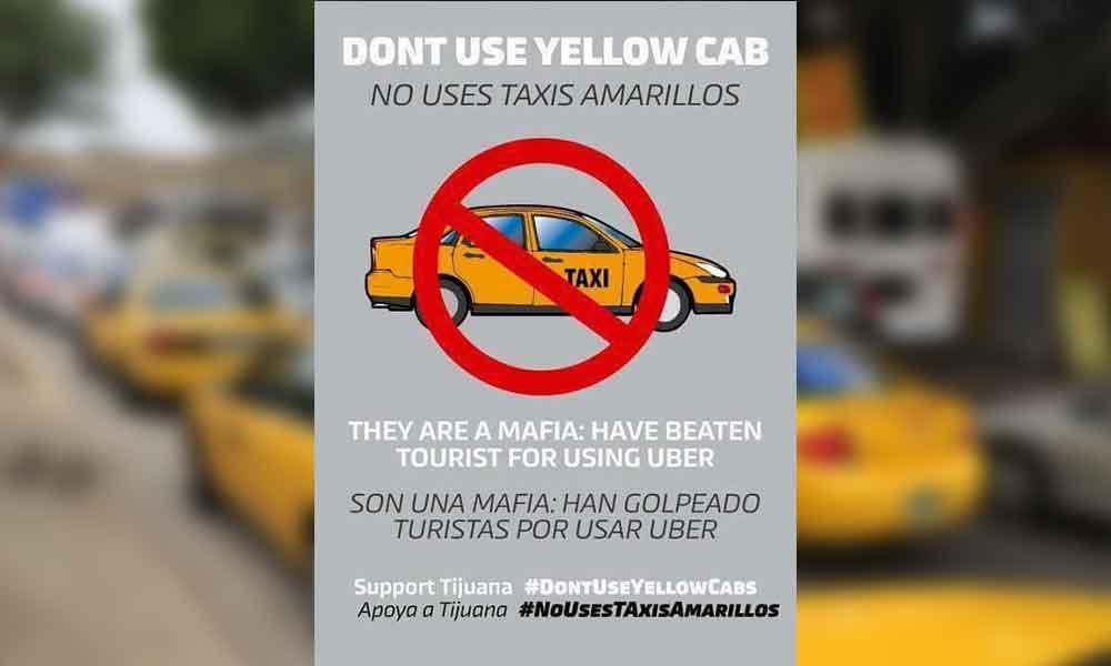 """Circula en redes sociales la campaña """"No uses Taxis Amarillos, Apoya a Tijuana"""""""