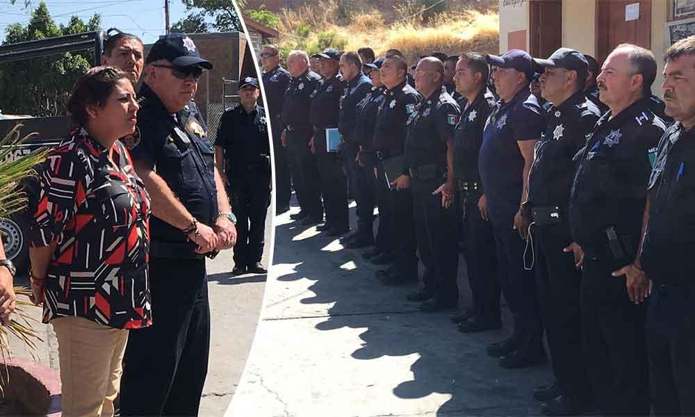 Policías de Tecate reciben homologación salarial correspondiente al 2016