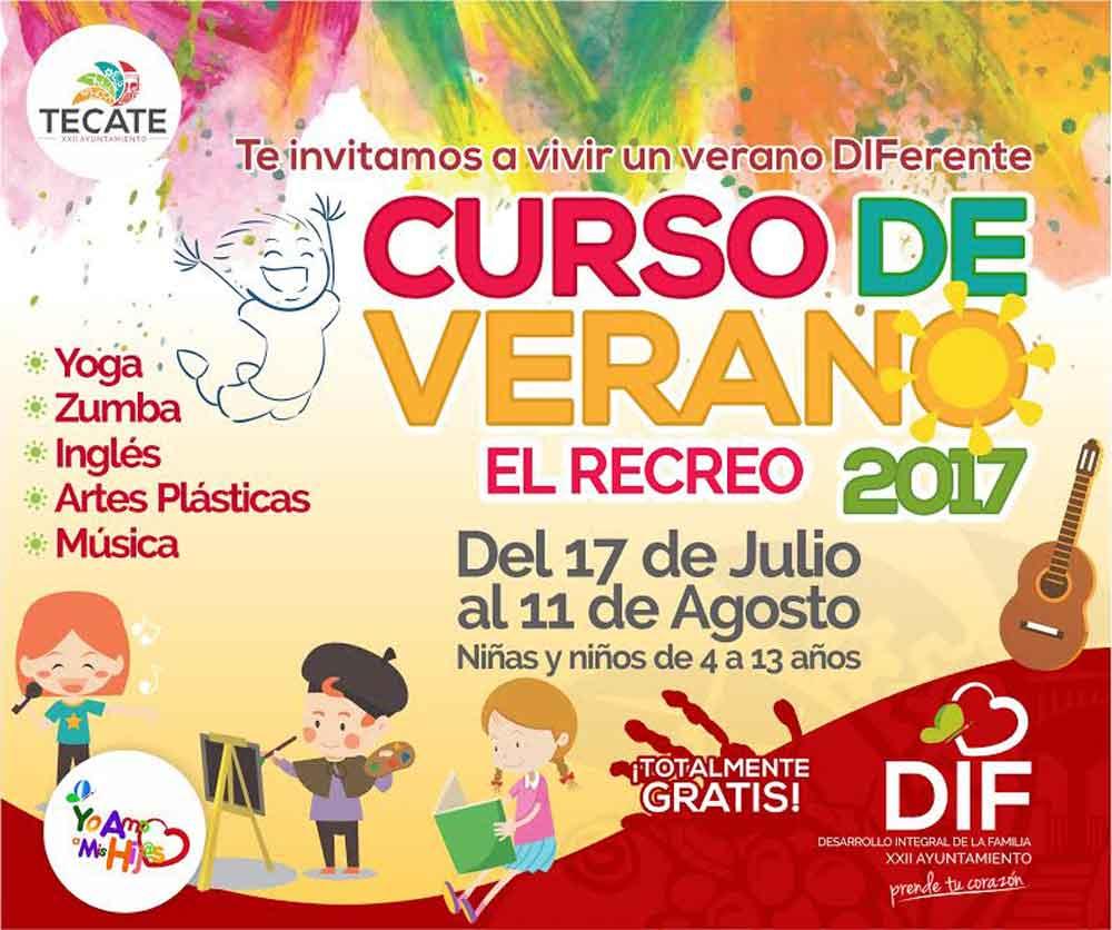 Invita DIF Tecate a su curso de verano infantil en El Recreo