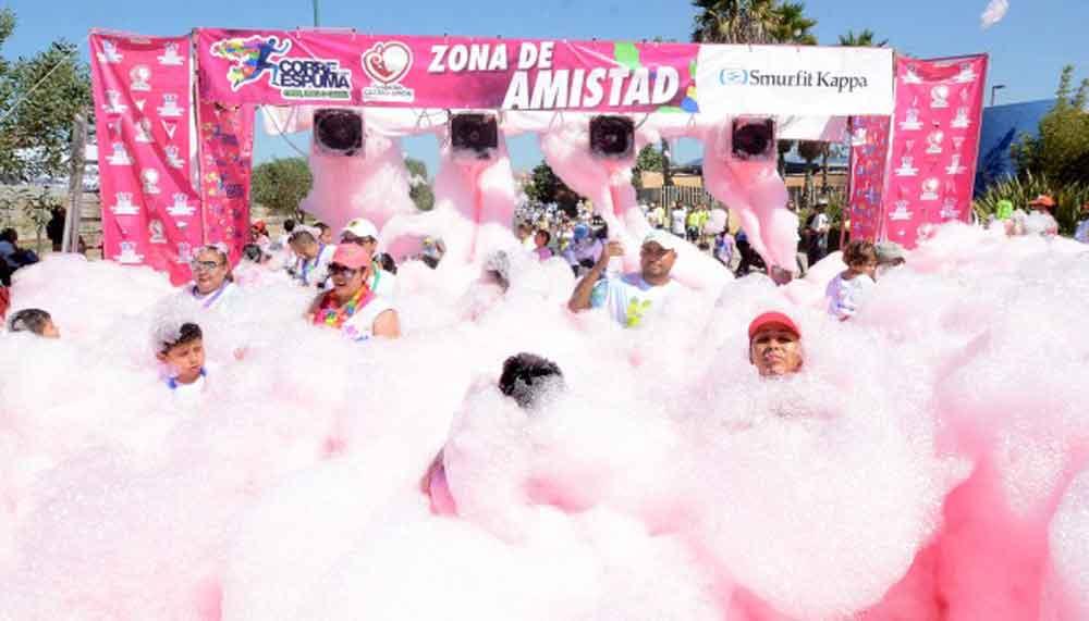 Corre con espuma este fin de semana en Tecate