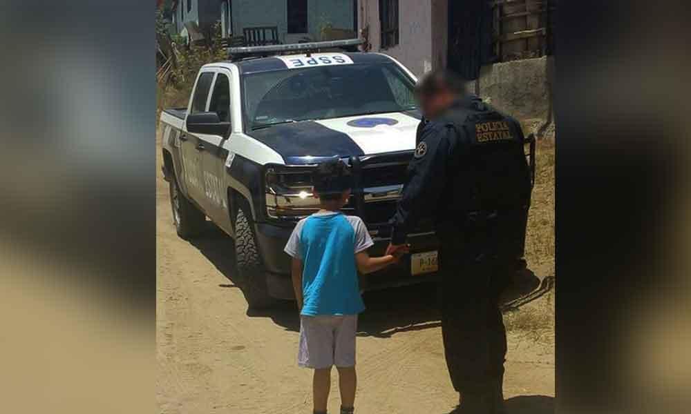 Localizan Agentes de la PEP a menor extraviado en Ensenada