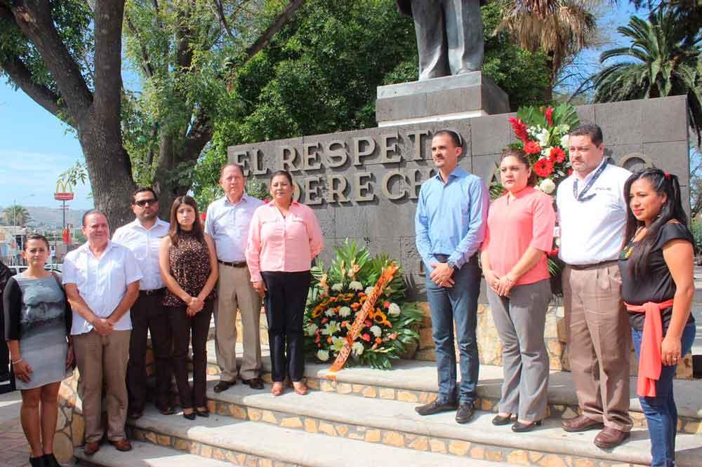 Gobierno Municipal conmemora Aniversario Luctuoso de Benito Juárez