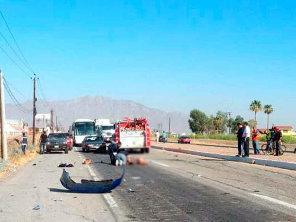 Fatal vocadura de Uber en Mexicali causa la muerte de una mujer