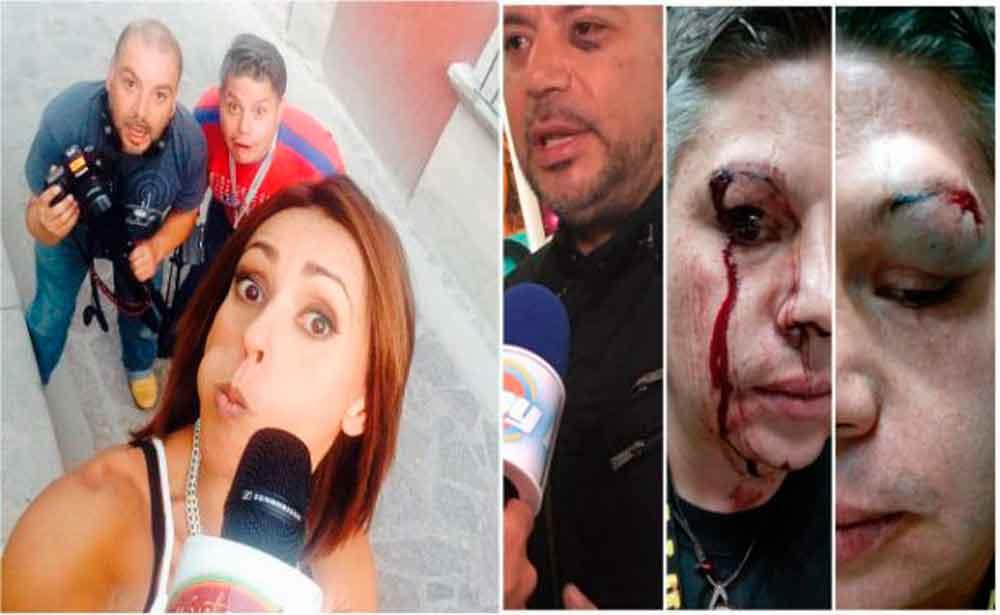 Golpean a reportera y su equipo de Televisa en Centro Histórico