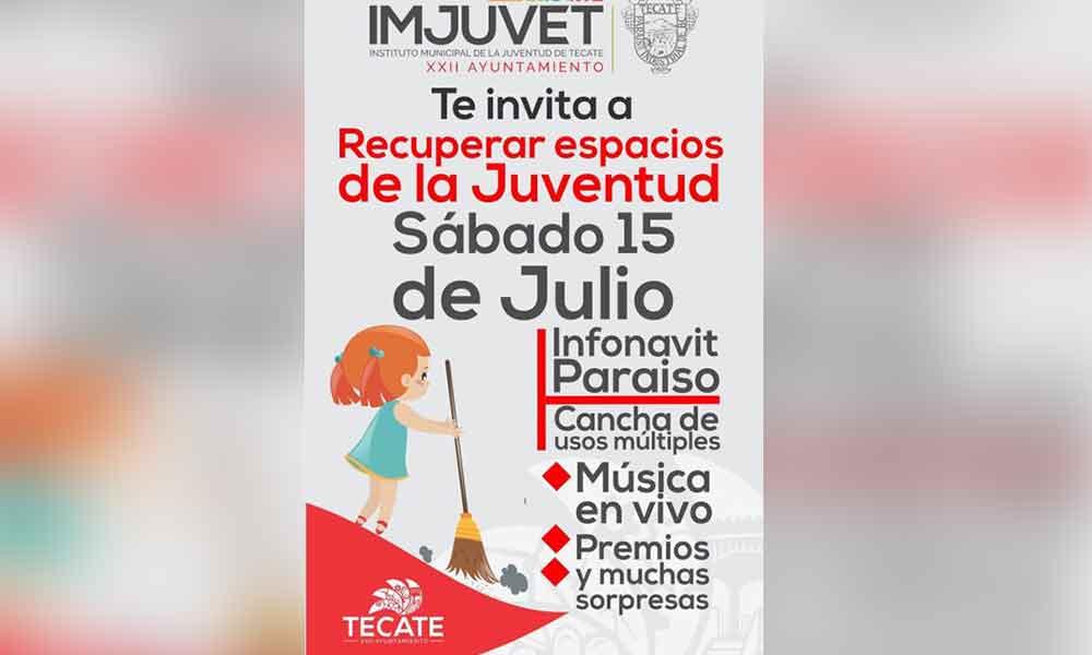 """Imjuvet iniciará con la campaña """"Recuperar espacios de la Juventud"""""""