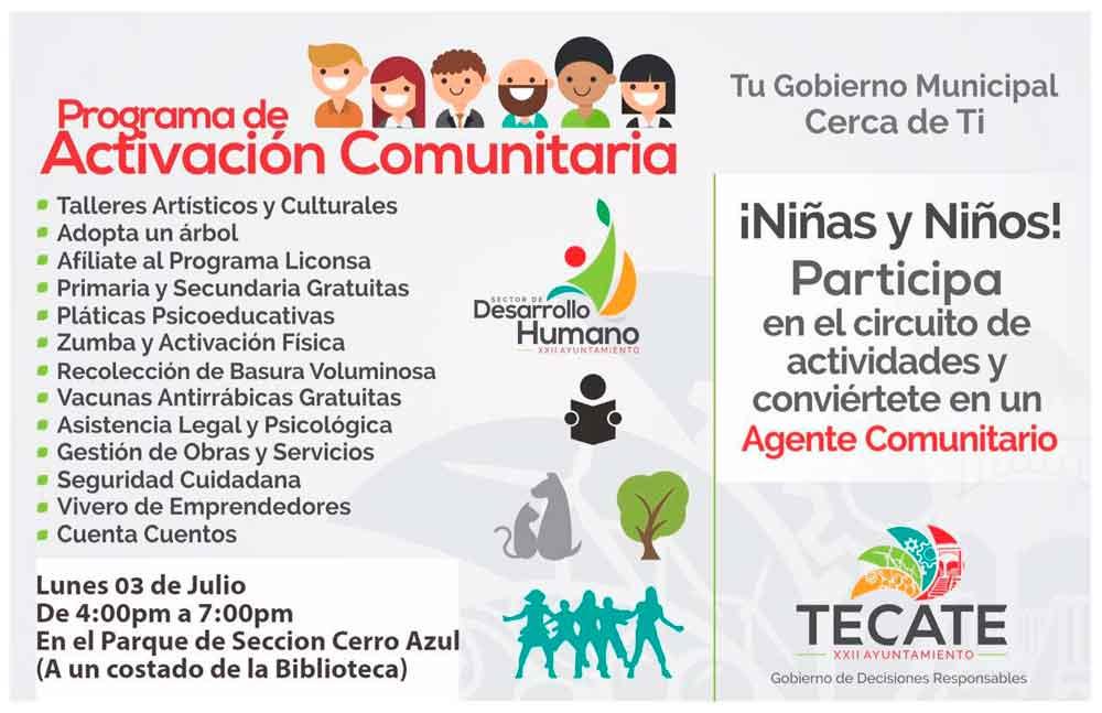 Ayuntamiento llevará el Programa de Activación Comunitaria a Cerro Azul