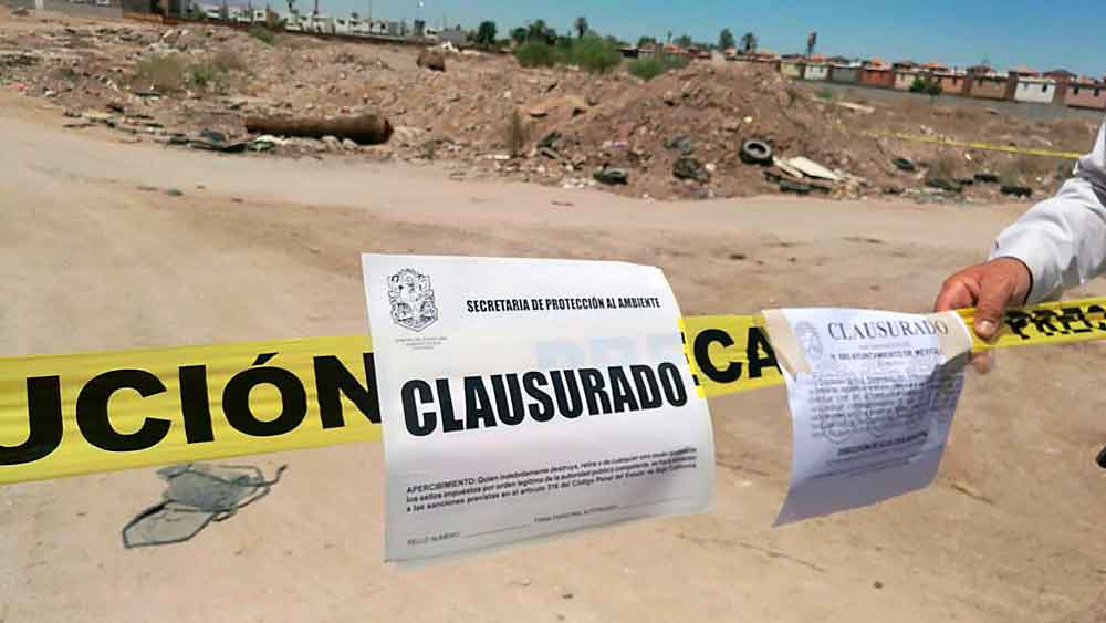 Clausuran basurero clandestino en Tijuana