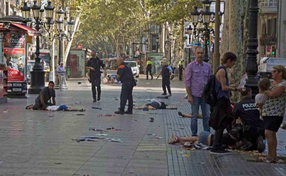 Así fue el momento del atentado en Barcelona