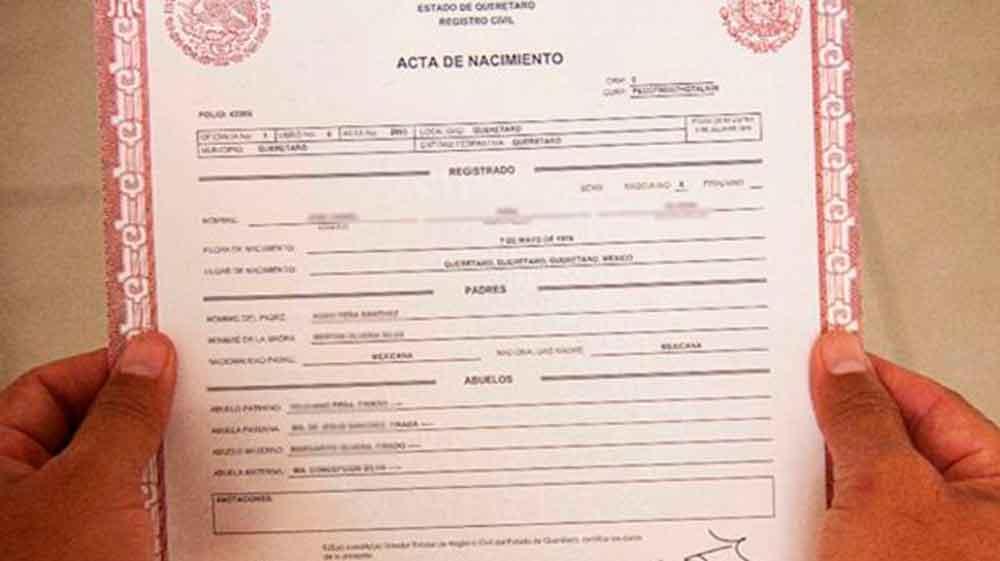 Contemporáneo Acta De Nacimiento Registros De California Composición ...