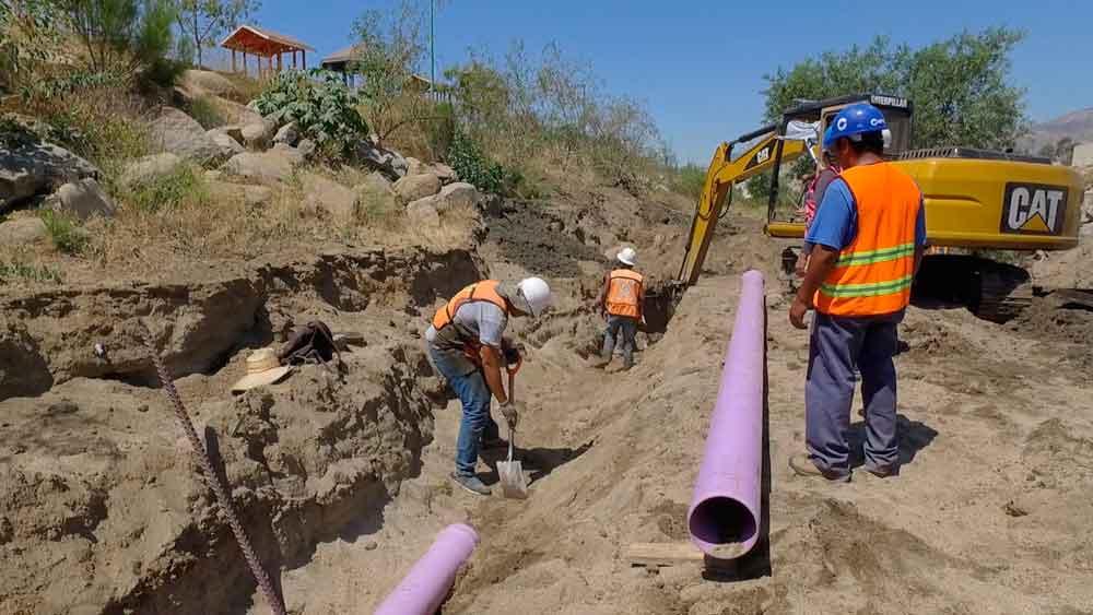 Avanzan con la construcción de Línea Morada en Tecate