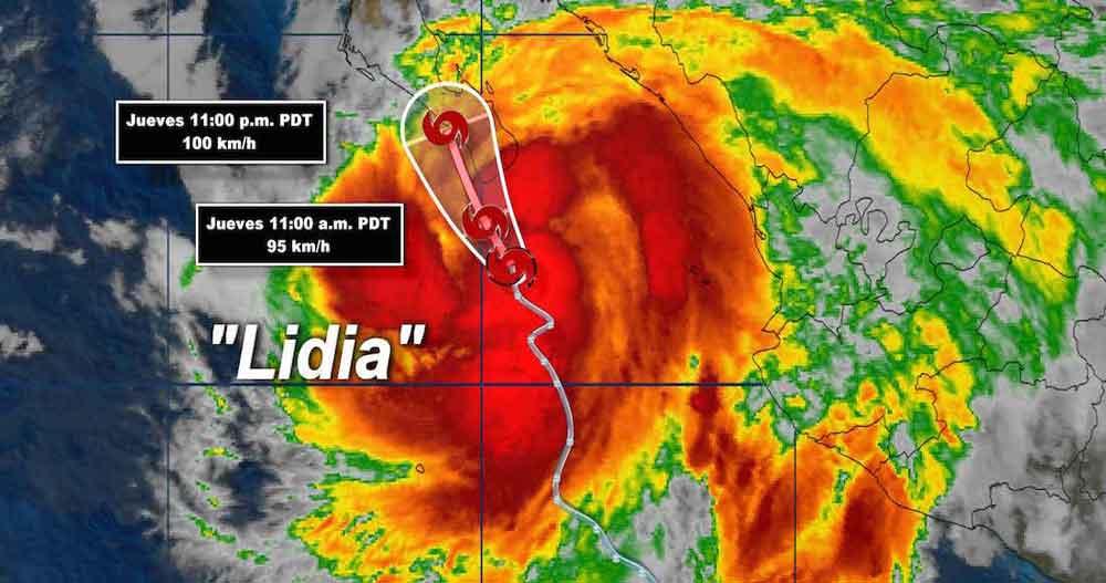 Peligro alto en Baja California Sur por tormenta tropical Lidia