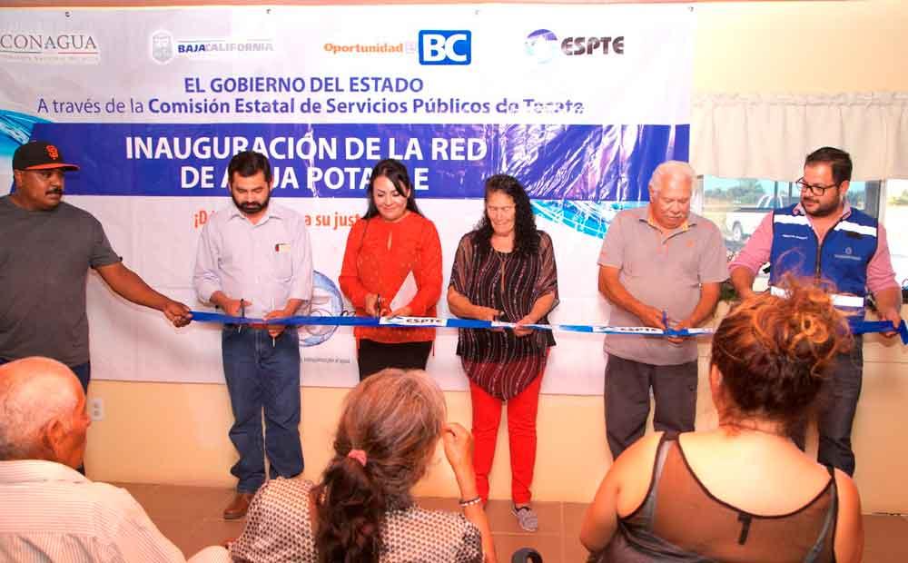 Inauguran línea de conducción de agua en colonia Jardines del Rincón