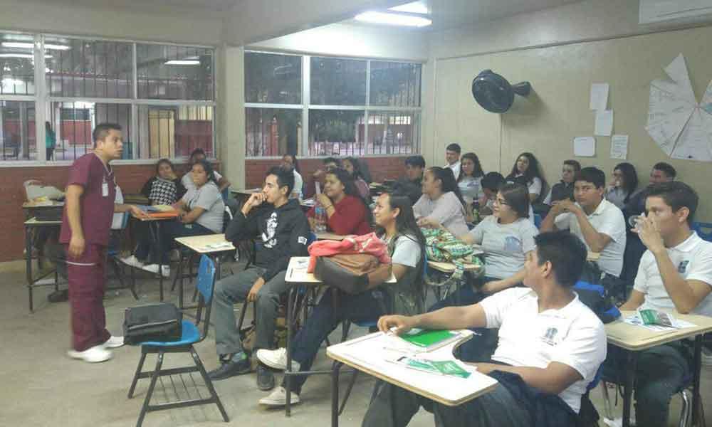 Realizan jornada de Salud en COBACH Valle de las Palmas