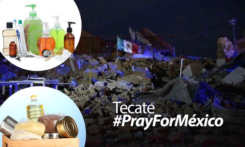 Activa Tecate centros de acopio en apoyo a damnificados de Oaxaca y Chiapas