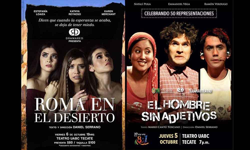 Invitan a obras de teatro en Tecate, 5 y 6 de octubre