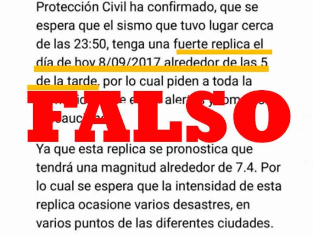 Advierten sobre falsos mensajes en WhatsApp alarmistas sobre sismo