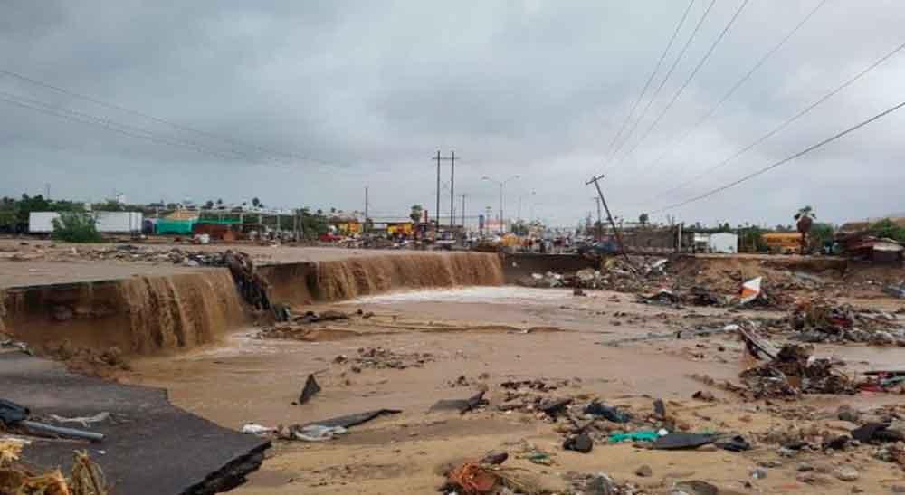 Caos, desastres e incomunicaciones por Lidia en Los Cabos