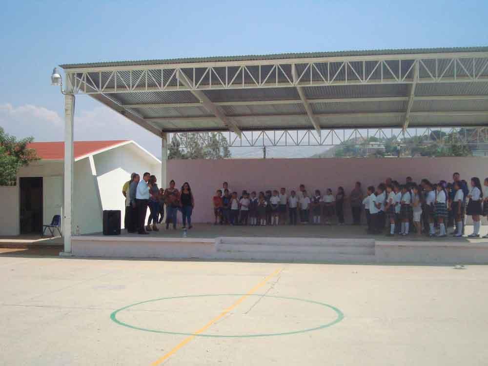 Entrega SEE Tecate obra en Primaria Vicente Guerrero