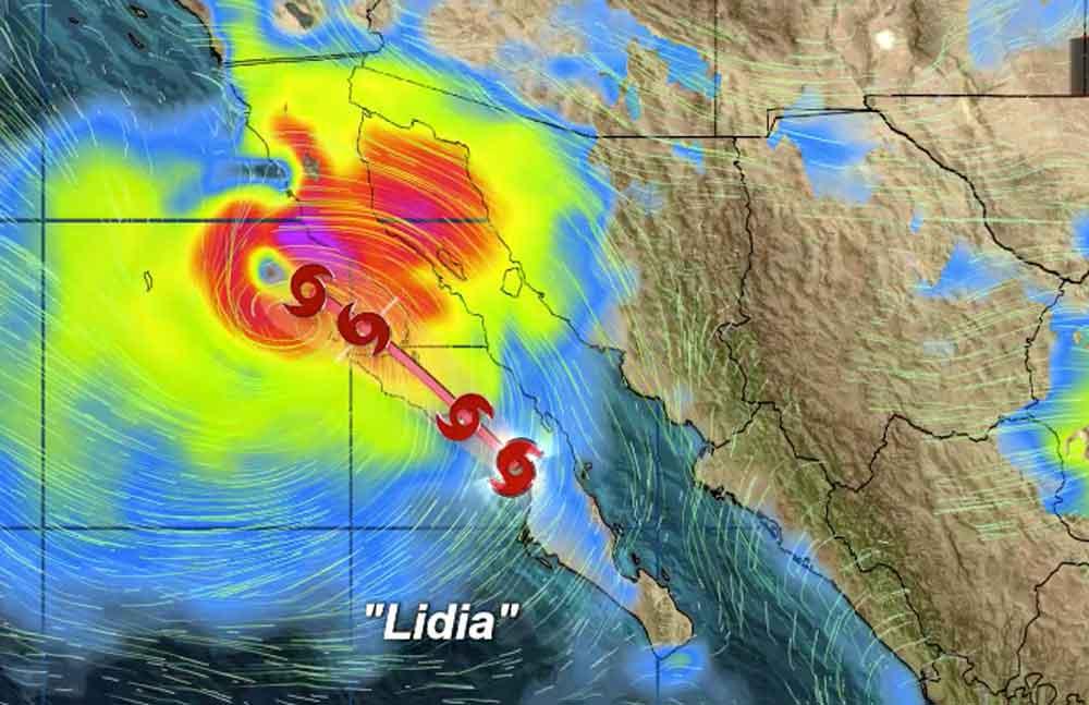 """En alerta Baja California por Tormenta tropical """"Lidia"""""""
