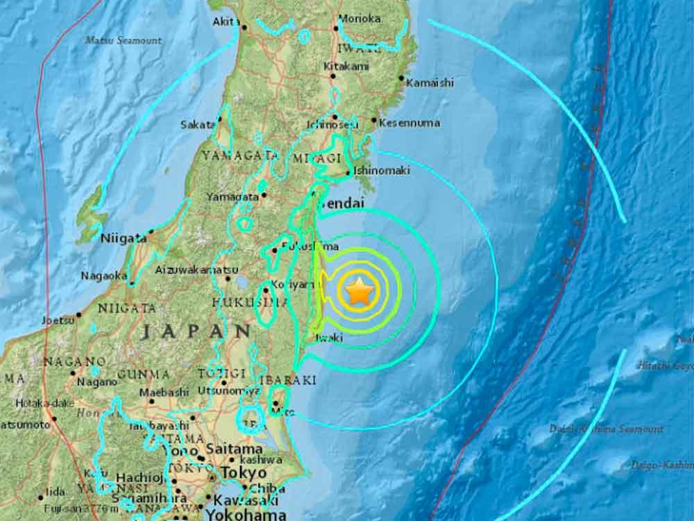 Sismo de 6.1 grados sacude Japón