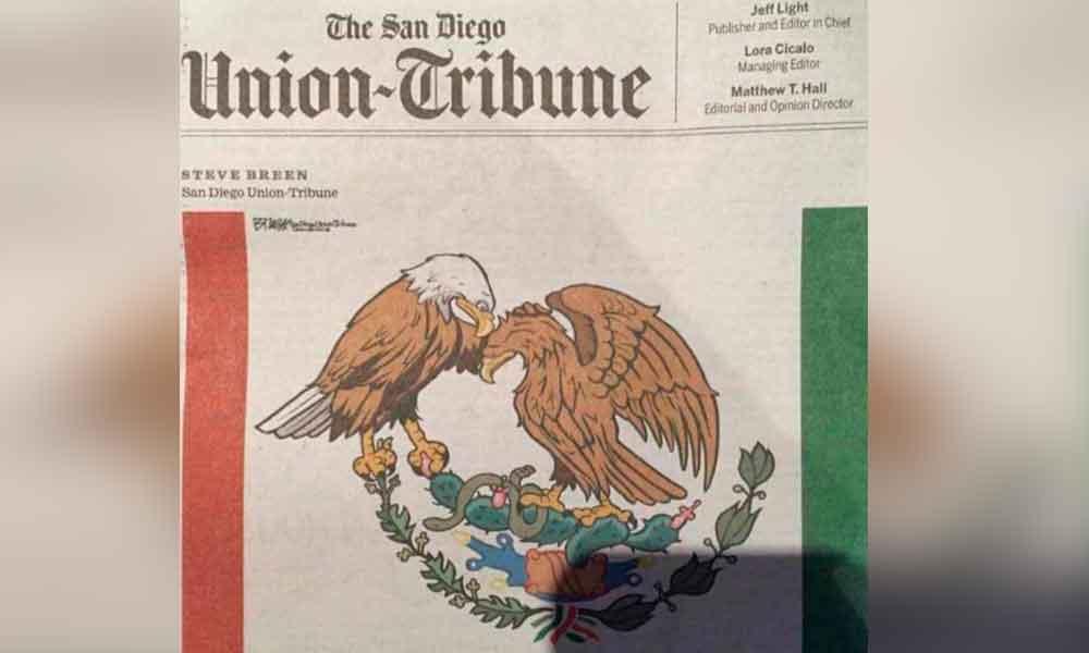 Diario The San Diego Union Tribune dedica portada a tragedia por sismo