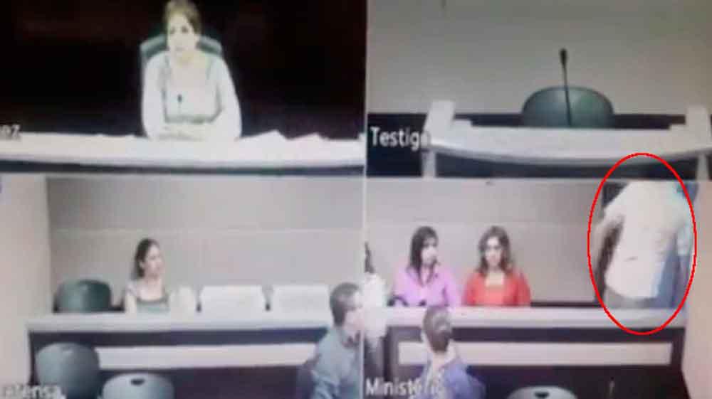 Así se fugó un presunto violador durante audiencia