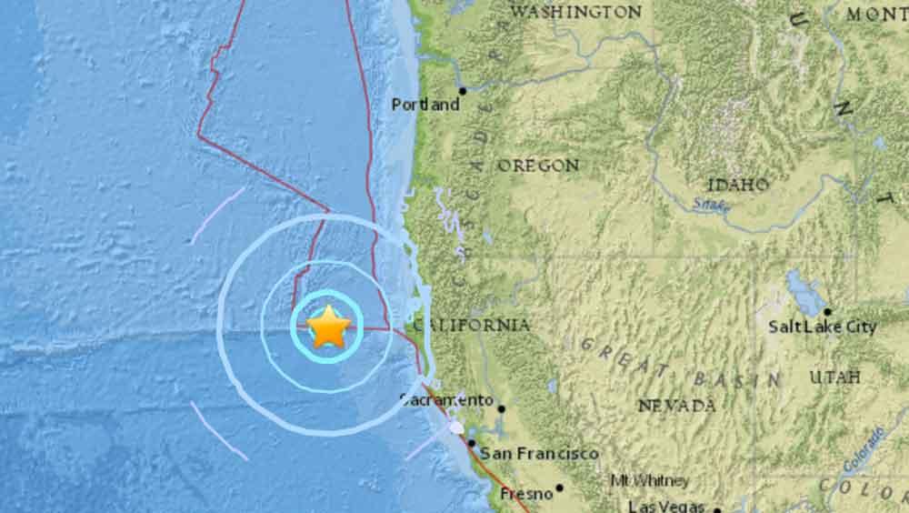 Sismo de magnitud 5,7 sacude la costa de California