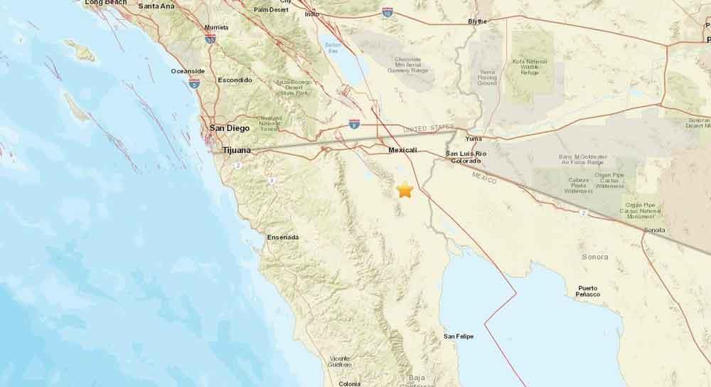 Se registra sismo de 3.6 grados en Baja California