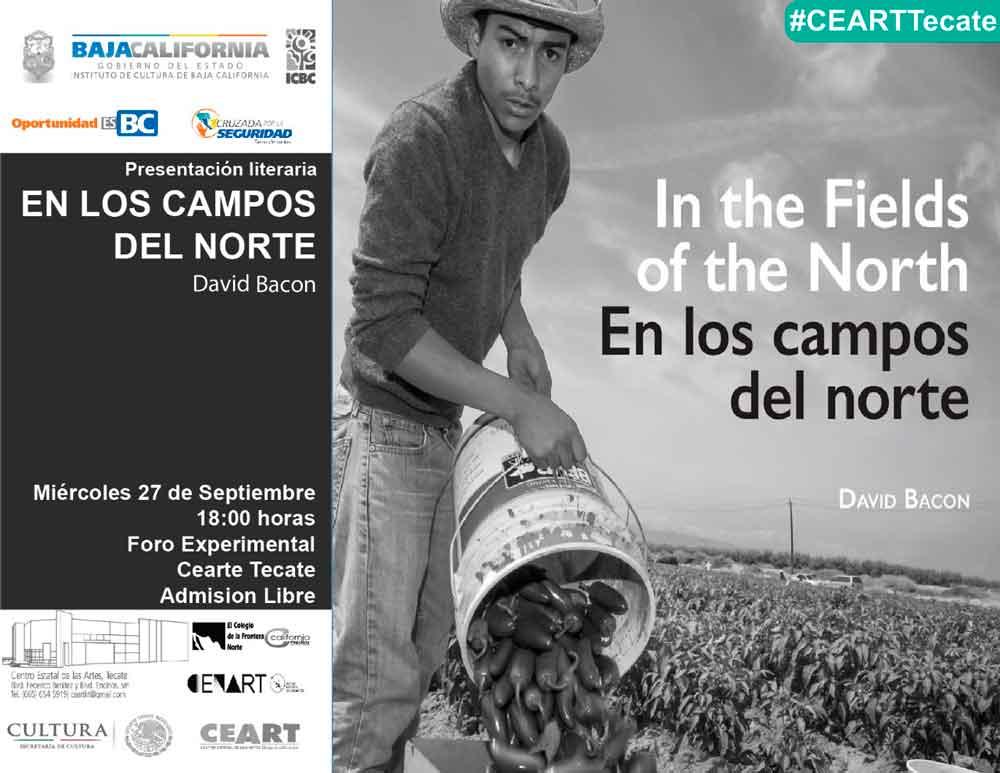 """Presentarán libro """"En los Campos del Norte"""" en CEART Tecate"""