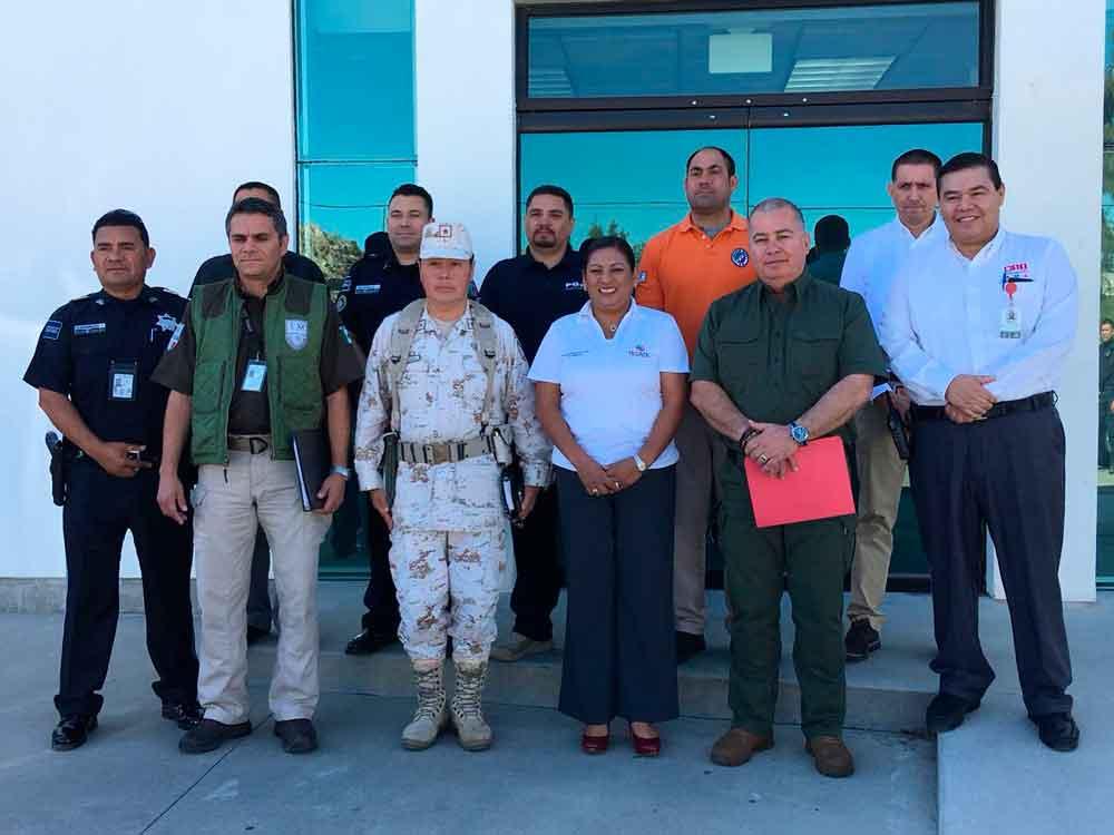 Coordinan estrategias mandos policiales en Tecate