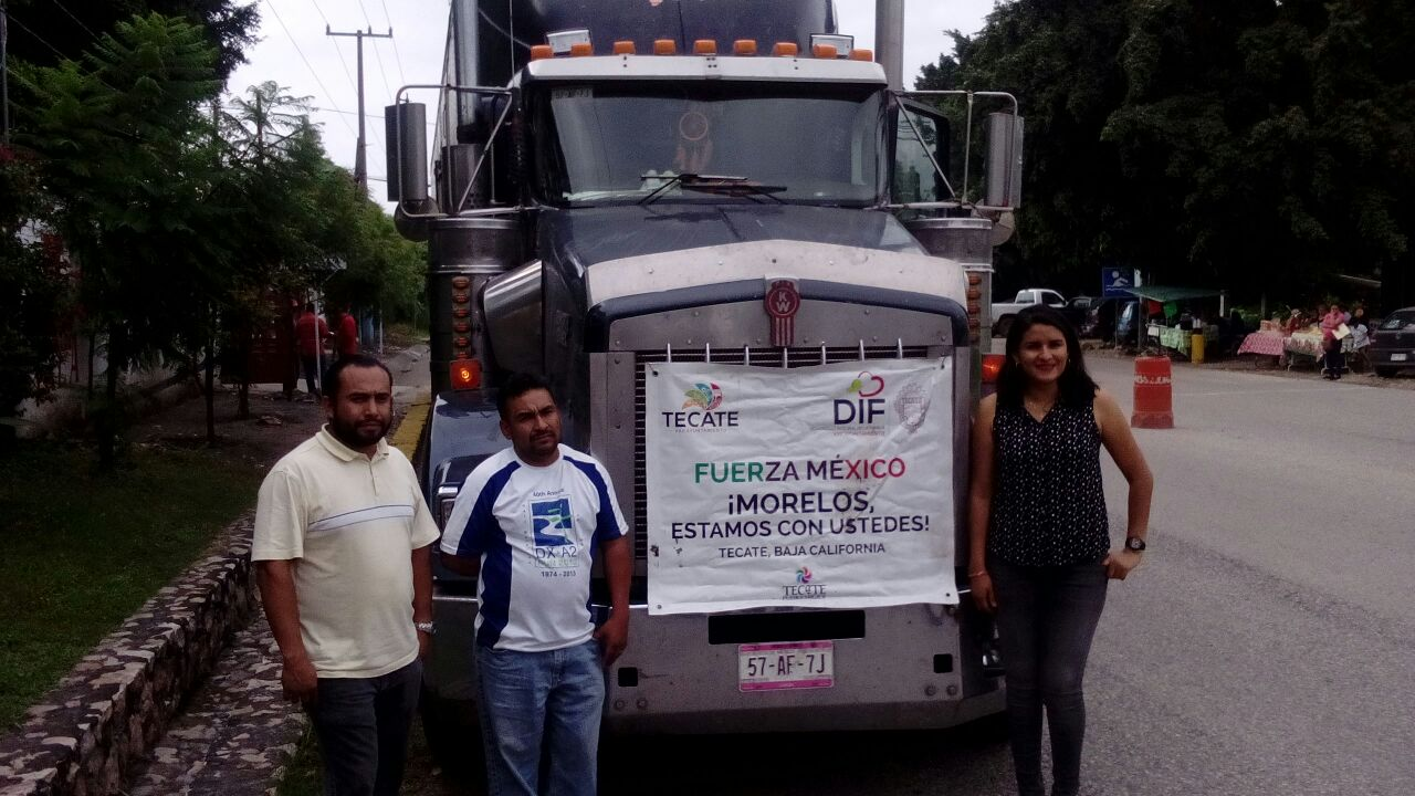 Llegan apoyos de tecatenses a Ayala, Morelos