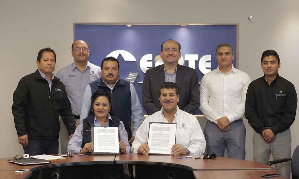 Firman convenio de colaboración CESPTE y Registro Público de la Propiedad y Comercio