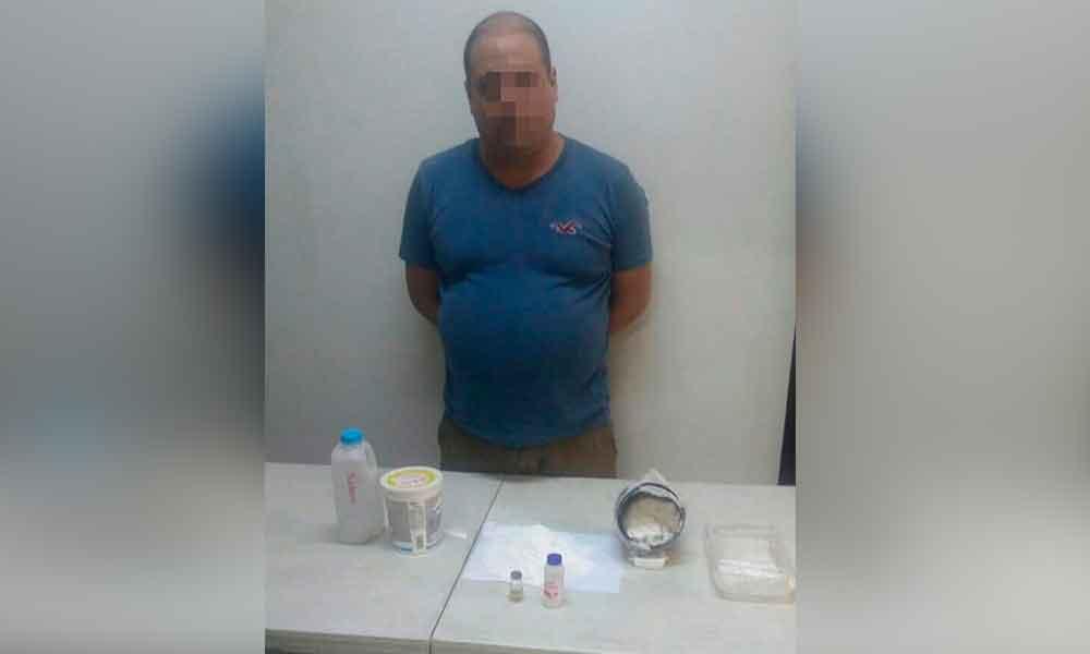 Detienen a sujeto con cocaína durante cateo