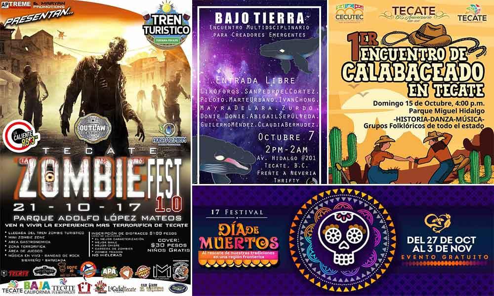 Calendario de eventos del mes de octubre para Tecate