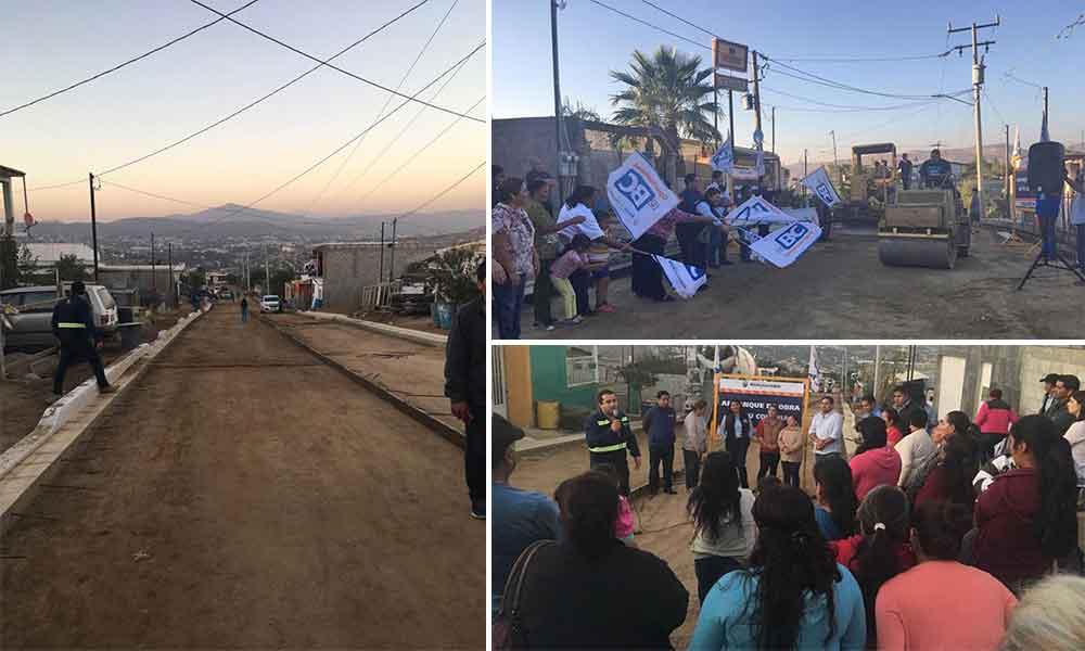 Arranca Diputada Federal Rosario Rodríguez obras de pavimentación en Tecate
