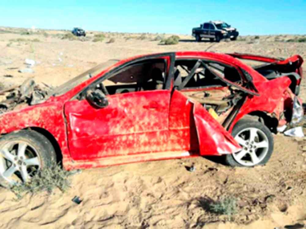 Muere hombre de Mexicali en fatal accidente en carretera