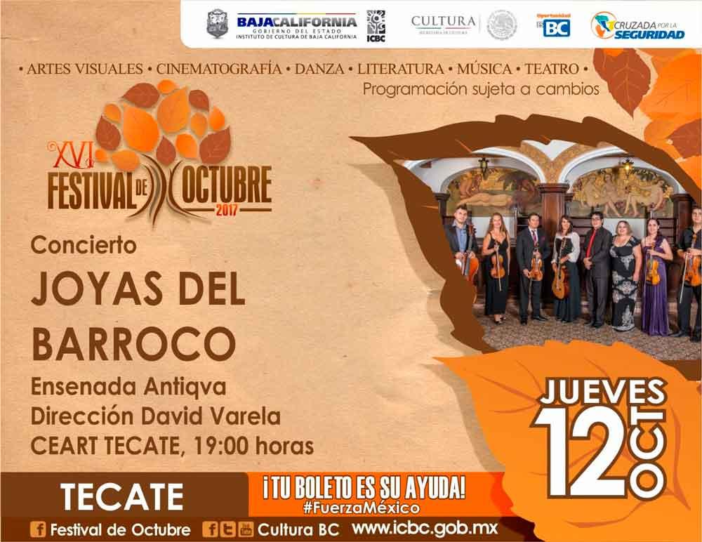 No puedes faltar al concierto Joyas del Barroco en Ceart Tecate