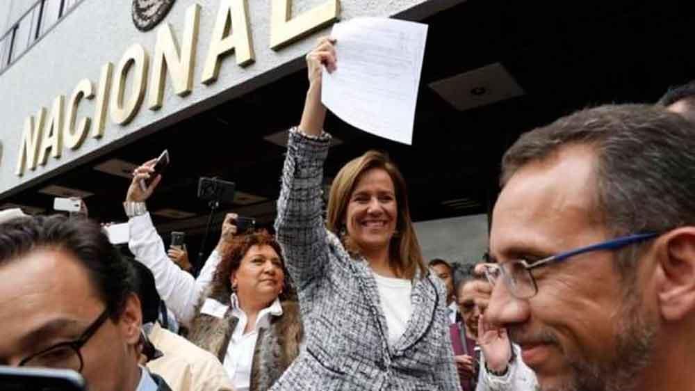 Margarita Zavala se registra como aspirante a candidata independiente