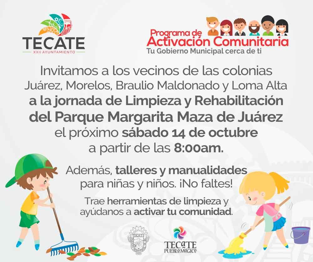 Rehabilitarán Parque Margarita Maza de Juárez