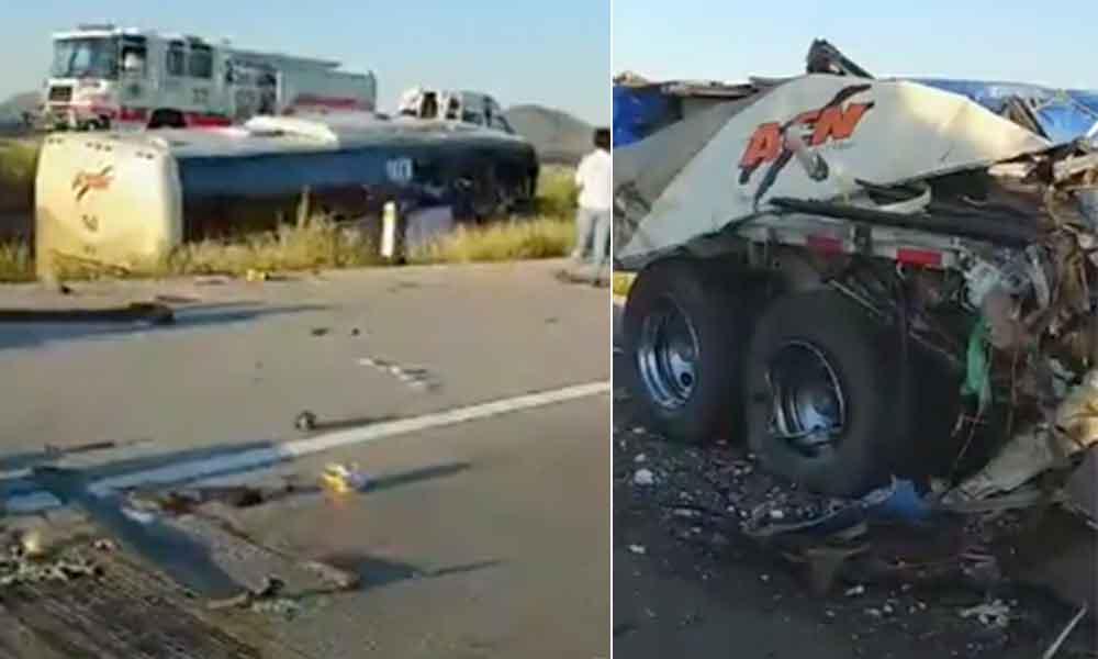 Camionazo en Sonora deja al menos 4 muertos, autobús venía a Tijuana
