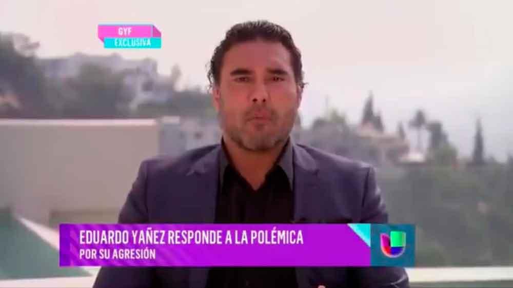 Eduardo Yáñez reaparece al borde del llanto para pedir disculpas al reportero que agredió