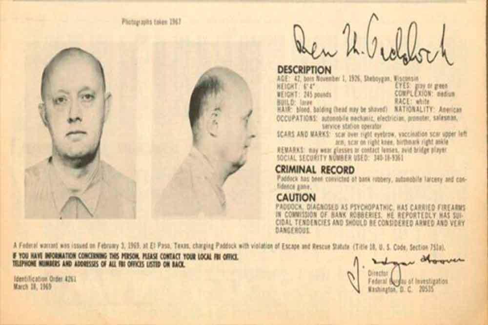 Padre del asesino de Las Vegas fue de los más buscados del FBI