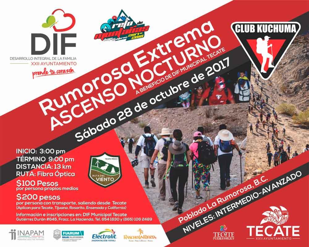Invita DIF Tecate a aventura extrema en La Rumorosa