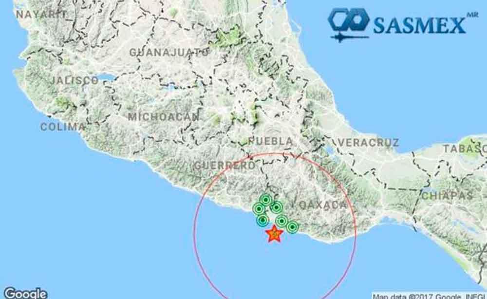 Se registra sismo de 5 grados en Oaxaca